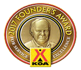 KOA Presidents Award Winner